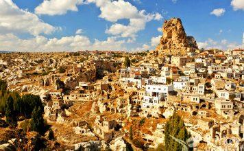 Popular Tourist Village Ortahisar in Turkey